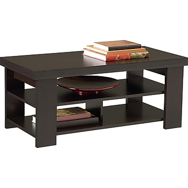 Dorel Hollow Core Contemporary Coffee Table, Black Forest