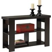 Dorel - Table console à âme creuse, noir forêt