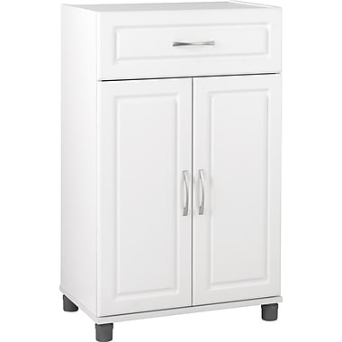 Dorel One Drawer, Two Door Cabinet, White