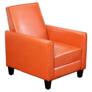 Home Loft Concept Rodgers Faux Leather Recliner Club Chair; Orange