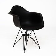 American Atelier Living Banks Arm Chair; Black