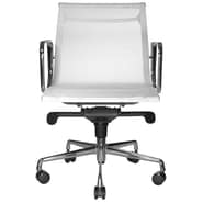 Wobi Office Reed Low-Back Mesh Chair; White