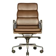 Wobi Office Clyde High-Back Leather Chair; Brown