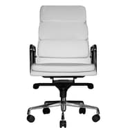 Wobi Office Clyde High-Back Leather Chair; White