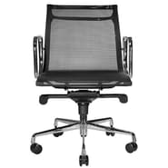 Wobi Office Reed Low-Back Mesh Chair; Black