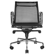 Wobi Office Reed Mid-Back Mesh Desk Chair; Black