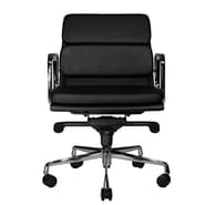 Wobi Office Clyde Low-Back Leather Chair; Black