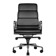 Wobi Office Clyde High-Back Leather Chair; Black