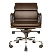 Wobi Office Clyde Low-Back Leather Chair; Brown