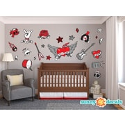 Sunny Decals Rock Star Fabric Wall Decal; Jumbo