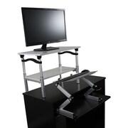 Uncaged Ergonomics Sit/Stand Conversion Kit; Silver
