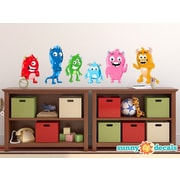 Sunny Decals 6 Piece Cute Monster Fabric Wall Decal Set; Medium