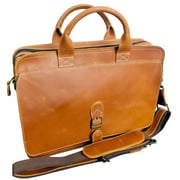 Canyon Outback Leather Texas Leather Briefcase; Tan