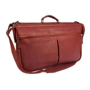 Canyon Outback Leather Laurel Leather Compact Garment Bag; Brick Red