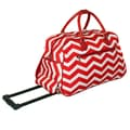 All-Seasons 21'' 2 Wheeled Carry-On Duffel; Red/White