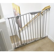 L.A. Baby Tall Metal Auto Close Safety Gate with 4 Extension