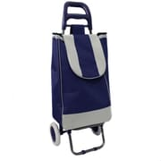 EC World Imports Easy Rolling Lightweight Collapsible Shopping Cart; Navy