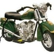 Giggo Toys Little Vintage 6V Battery Powered Indian Motorcycle; Green