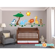 Sunny Decals Jungle Fabric Wall Decal; Jumbo