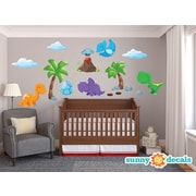 Sunny Decals Dinosaur Fabric Wall Decal; Standard