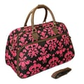 All-Seasons 21'' Carry-On Duffel; Brown/Pink