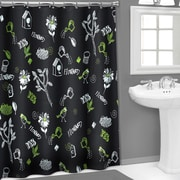 Popular Bath Products Vinyl 3D Chalk Board Shower Curtain