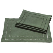 Xia Home Fashions Handmade Double Hemstitch Easy Care Placemat (Set of 4); Pine