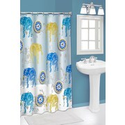 Popular Bath Products Vinyl 3D Elephant Shower Curtain