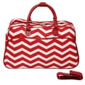 All-Seasons 21'' Carry-On Duffel; Red/Cream