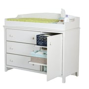 "South Shore Cotton Candy Collection Changing Table Pure White, 47.5"" (L) x 19.5"" (D) x 37.75"" (H)"