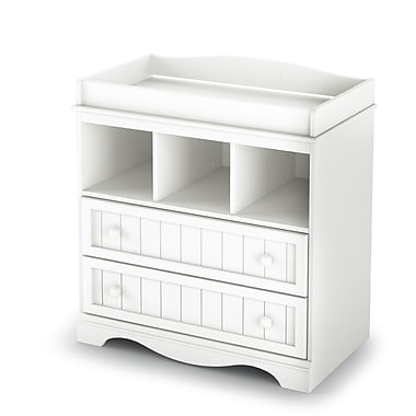 South Shore Savannah Collection Changing Table, Pure White, 35