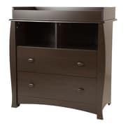 "South Shore Beehive Changing Table with Removable Changing Station, Espresso, 35.5"" (L) x 19.5"" (D) x 37.5"" (H)"