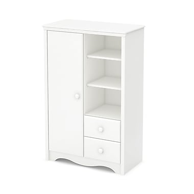 South Shore Heavenly Armoire with Drawers, Pure White, 34