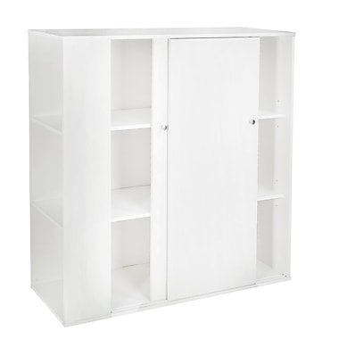South Shore Storit Kids Storage Cabinet with Sliding Doors, White, 46.25