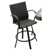 The Outdoor GreatRoom Company Naples 29'' Bar Stool (Set of 2); Dark Brown Leather