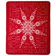 Denali Lyric Culture ''Baby It's Cold Outside'' Acrylic Double-Sided Throw; Red