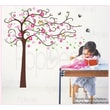 Pop Decors Cute Flower Tree with Cute Owl Removable Vinyl Art Wall Decal