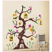 Pop Decors Colorful Photo Tree Removable Vinyl Art Wall Decal