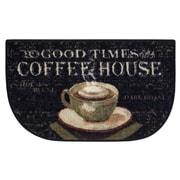 Brumlow Mills Coffee House Black Area Rug; 1'8'' x 2'10''