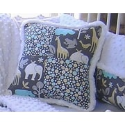 Blueberrie Kids Animal Cookies Patch Cotton Throw Pillow