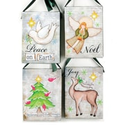 Blossom Bucket 4 Piece Peace/Believe/Noel/Joy LED Wall Decor Set