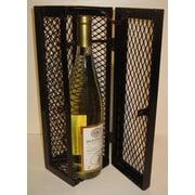 Metrotex Designs Industrial Evolution 1 Bottle Tabletop Wine Cabinet; Brown