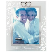 Malden 5'' x 7'' Anniversary Double Heart Glass Picture Frame