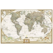 National Geographic Maps World Executive Sized and Boxed Poster Map