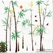 Pop Decors Bamboo Forest with Flying Birds Removable Vinyl Art Wall Decal