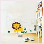 Pop Decors Cute Lion Removable Vinyl Art Wall Decal
