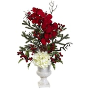 Nearly Natural Holiday Elegance Arrangement with Urn