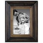 Malden Two Tone Walnut Picture Frame; 4'' x 6''