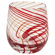 IMPULSE! Marbella Rocks 14 Oz. Old Fashioned Glass (Set of 4); Red