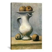 iCanvas Picasso Still Life w/A Pitcher And Apples Canvas Print Wall Art; 18'' H x 12'' W x 0.75'' D